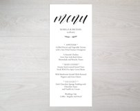 Wedding Menu Template Product Image 3