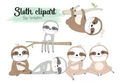 Sloth clipart Instant Download PNG file - 300 dpi Product Image 1