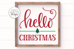 Hello Christmas SVG | Winter Sign | DXF and More Product Image 2