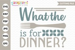 What the fork is for dinner SVG, funny kitchen Product Image 1
