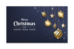 Christmas background design with glitter ornament Product Image 1