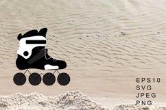 Roller Skates Vector Illustration. Roller Skates Sublimation Product Image 1