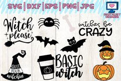 Halloween bundle svg, fall, october, witch, png, dxf Product Image 4