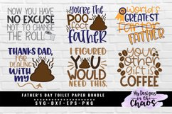 Father's Day Toilet Paper Bundle of 6 SVG EPS DXF PNG Product Image 1