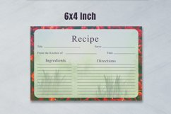 Artistic Recipe Card Template V1 Product Image 2