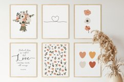 Set of 6 flower prints, Digital love posters, Birthday gift Product Image 6