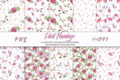 Pink Flamingo Seamless Patterns Product Image 1