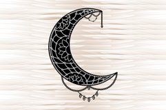 Moon mandala, mandala svg, zentangle svg Product Image 6