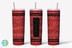Skinny Tumbler Sublimation Design - Glitter Crayon Tumblers Product Image 6