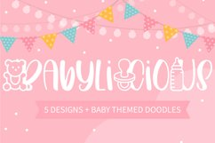 Babylicious 5 Designs With Baby Themed Doodles Product Image 1