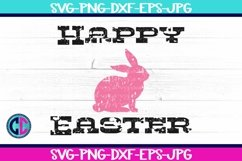 Happy Easter Grunge Bunny SVG Product Image 1