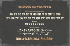 Mendes - Old Fashioned Sign Font Product Image 5