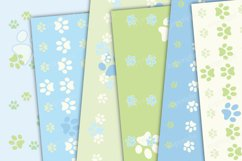 Pastel green and blue seamless paws backgrounds Product Image 3