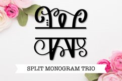 Split Fancy Monogram Trio - Clean & Hand Lettered! Product Image 1