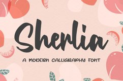 Sherlia a Modern Calligraphy Font Product Image 1