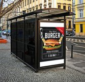 Restaurant Fast Food Bus Stop Banner Product Image 2