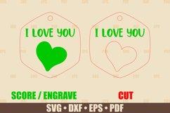 Love Keychains SVG Bundle Glowforge, Key Fob SVG design Product Image 6
