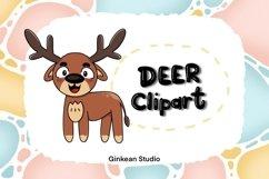 Deer clipart, deer png, digital sticker, sticker,sublimation Product Image 1