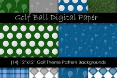 Golf Theme Digital Paper - Golf Ball Backgrounds Product Image 1