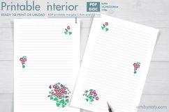 Violet flowers - printable KDP journal. Product Image 1