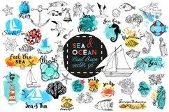 Sea & Ocean.Vector hand drawn set Product Image 1