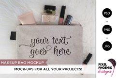 Makeup Bag Mockup, Cosmetic bag mockup Product Image 1