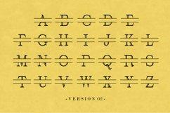 Split Letter Monogram Font Product Image 2
