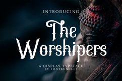 Web Font The Worshipers Product Image 1