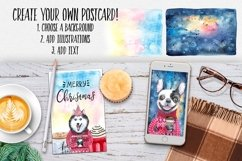 CHRISTMAS AND DOGS watercolor set Product Image 3