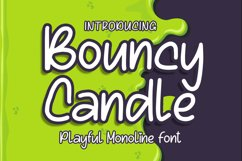 Bouncy Candle - Playful Monoline Font Product Image 1