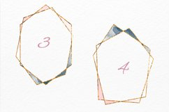 Gold frames Blush pink Navy and Grey watercolor texture Product Image 3