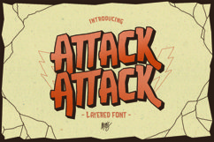 Attack Attack Typeface Product Image 1