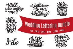 Wedding lettering SVG bundle Product Image 1