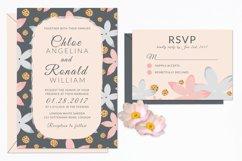 Modern Floral Wedding Invitation Set Product Image 2