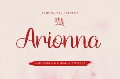 Arionna - Modern Calligraphy Font Product Image 1
