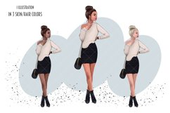 Boss Lady Clipart, Fashion Girl Illustration Product Image 3
