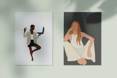 Abstract girl, freelancer, black woman, white female Product Image 4