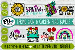 Spring Sign and Garden Flag Bundle - A Set of Layered SVGs Product Image 1