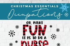 Christmas Nurse Practitioner svg - np svg - oh what fun Product Image 4