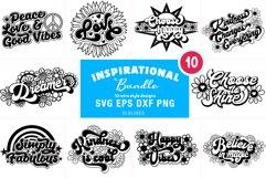 Retro Inspirational Bundle - Vintage Love & Kindness SVG Product Image 1