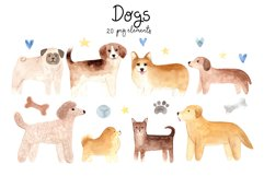 Watercolor Cute Dogs. Patterns and Cliparts Product Image 2
