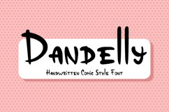 Dandelly - Playful Comic Font Product Image 1