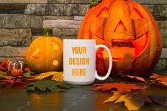 Mug Mockup Halloween 15 Oz Blank White Coffee Cup Product Image 1