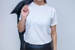 Female white T-shot mockup temlate Product Image 1