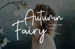 Autumn Fairy Signature Monoline Font Product Image 1