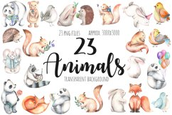 Watercolor cute Animals Product Image 3