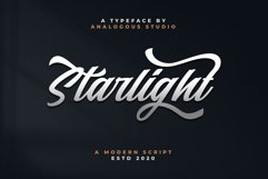 Starlight || Modern Script Product Image 1