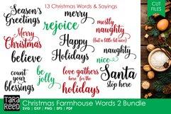 Christmas Farmhouse Words 2 Bundle Product Image 1