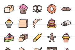 120 Sweets & Bakery Filled Line Icons Product Image 2