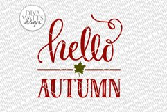 Hello Autumn SVG | Farmhouse Sign | DXF and More Product Image 2